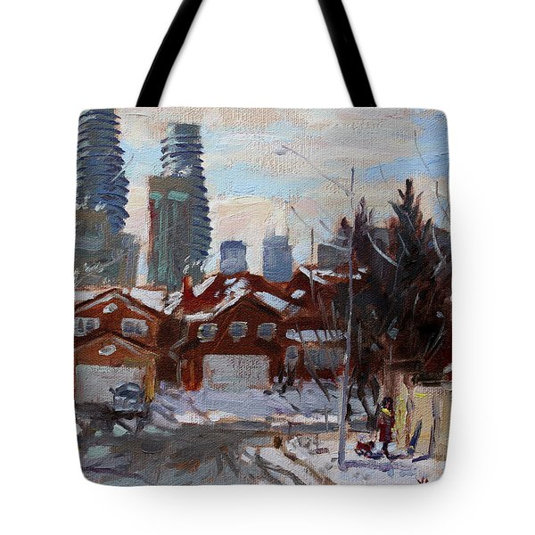 Winter In Mississauga  Tote Bag by Ylli Haruni