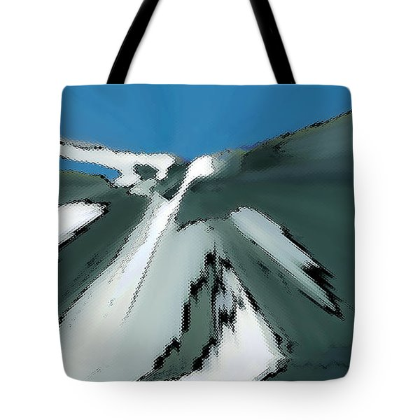 Winter In The Mountains Tote Bag by Ben and Raisa Gertsberg