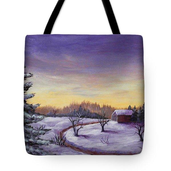 Winter in Vermont Tote Bag by Anastasiya Malakhova