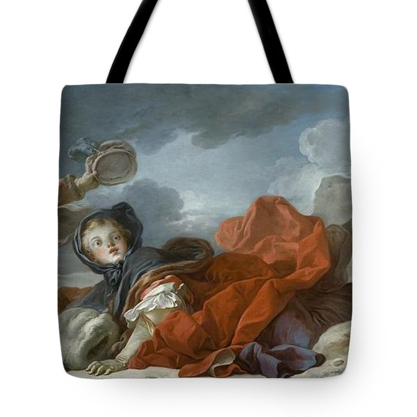 Winter Tote Bag by Jean Honore Fragonard