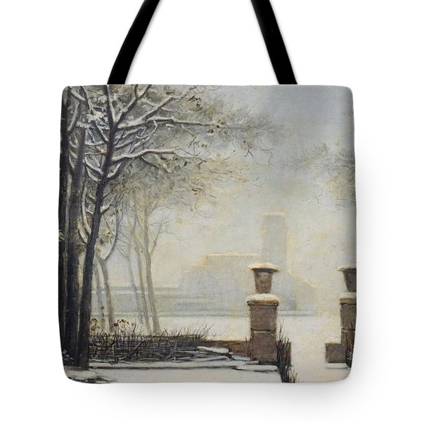 Winter Landscape Tote Bag by Alessandro Guardassoni