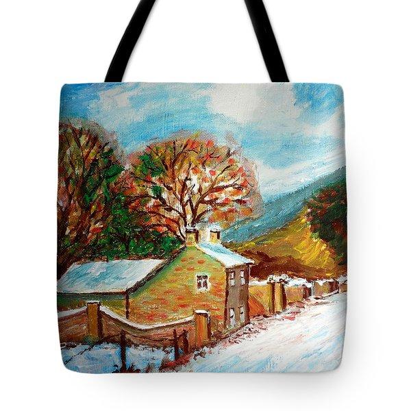 Winter Landscape Tote Bag by Mauro Beniamino Muggianu