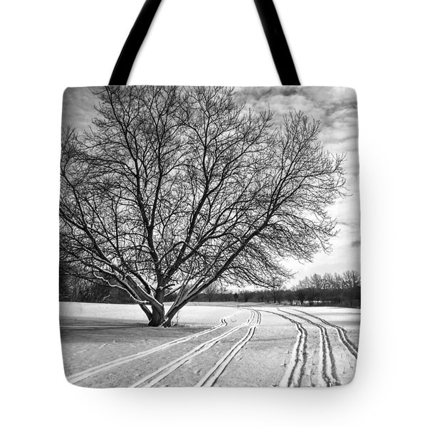 Winter Lines Tote Bag by Lauri Novak