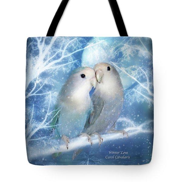 Winter Love Tote Bag by Carol Cavalaris