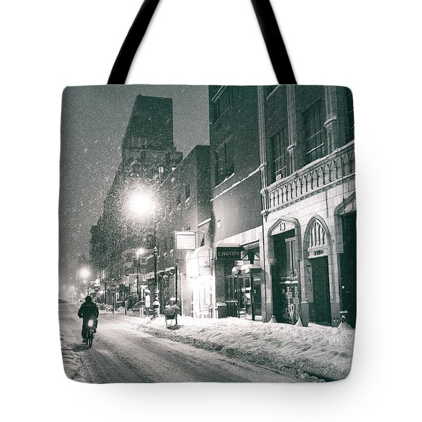 Winter Night - New York City - Lower East Side Tote Bag by Vivienne Gucwa