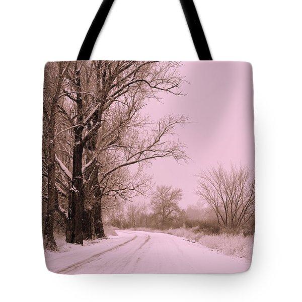 Winter Pink Tote Bag by Carol Groenen