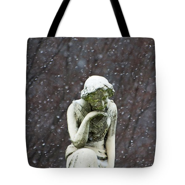 Winter Prayers Tote Bag by adSpice Statues
