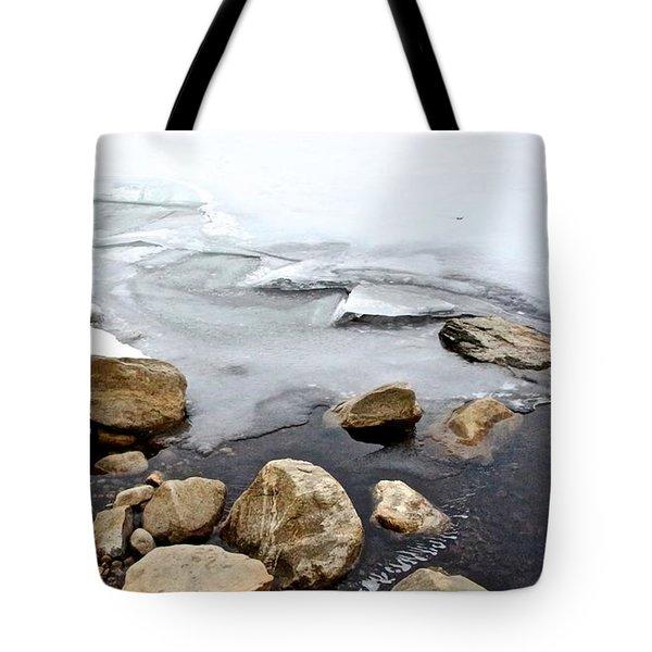 Winter Quabbin Tote Bag by Randi Shenkman