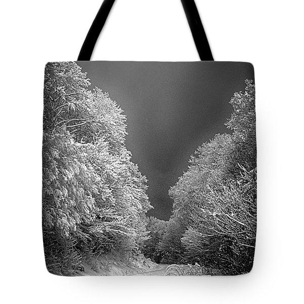 Winter Road Tote Bag by John Haldane