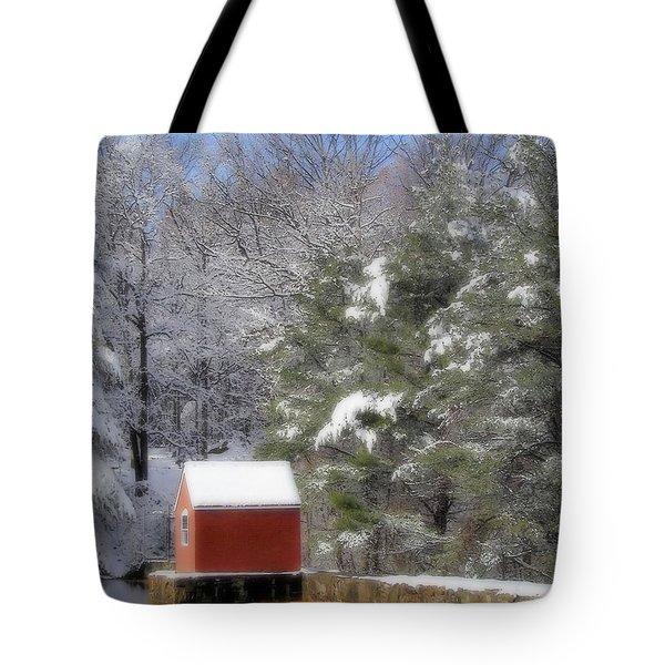 Winter Scene  Tote Bag by Karol Livote
