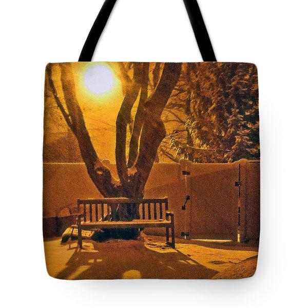 Winter Scene Tote Bag by Mikki Cucuzzo