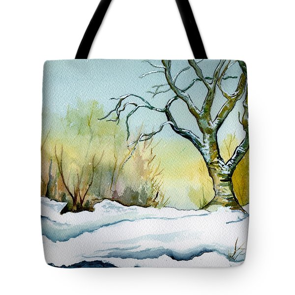 Winter Solitude Tote Bag by Brenda Owen