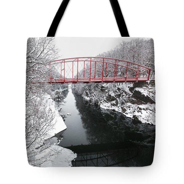 Winter Solitude Square Tote Bag by Bill  Wakeley