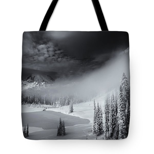 Winter Storm Clears Tote Bag by Mike  Dawson