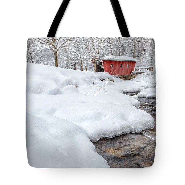 Winter Stream Tote Bag by Bill  Wakeley