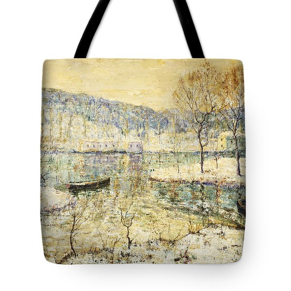 Winter Stream Tote Bag by Ernest Lawson