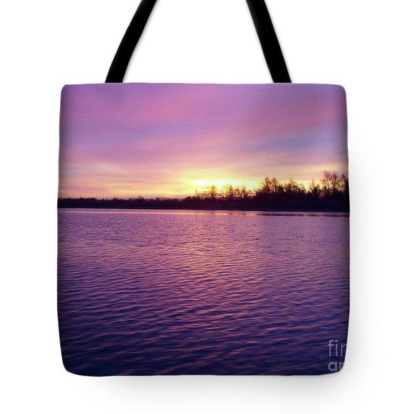 Winter Sunrise Tote Bag by JOHN TELFER