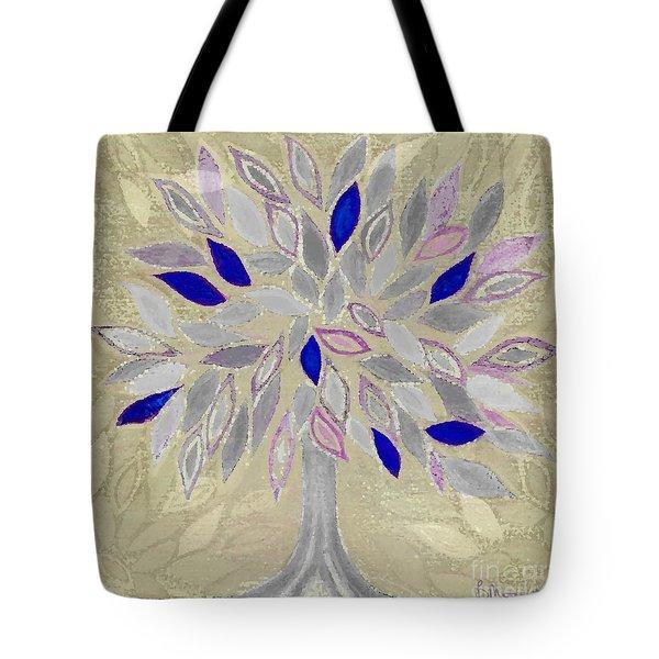 winter tree Tote Bag by Barbara Moignard