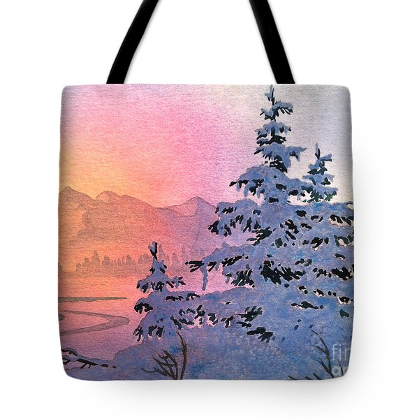 Winter Twilight Tote Bag by Teresa Ascone