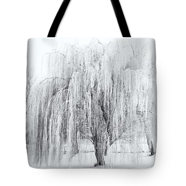 Winter Willow Tote Bag by Mike  Dawson