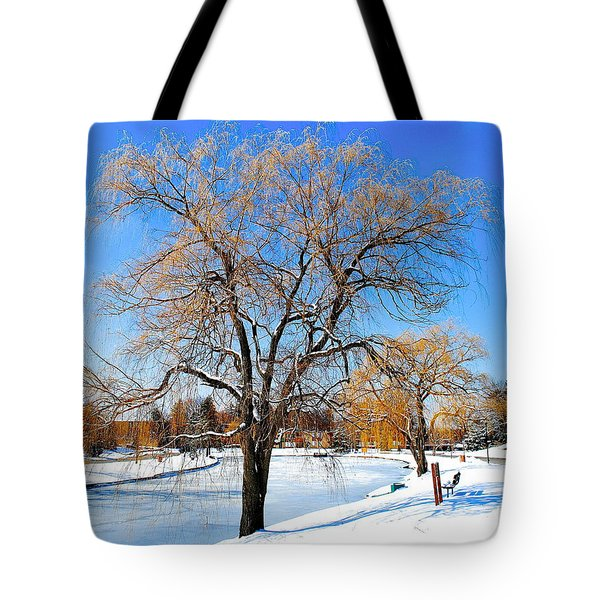 Winter Willow Tote Bag by Frozen in Time Fine Art Photography