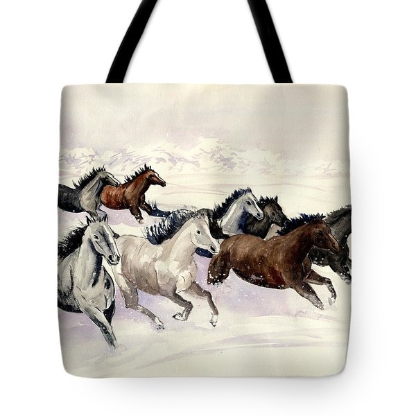 Winter Wishperer Tote Bag by Melly Terpening