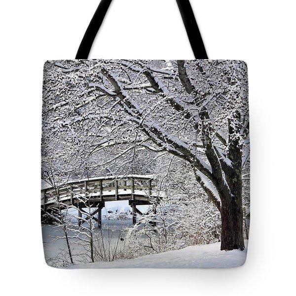 Winter Wonderland Tote Bag by Janice Drew