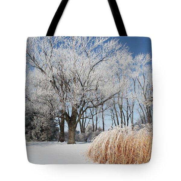 Winter Wonderland Tote Bag by Robyn Saunders