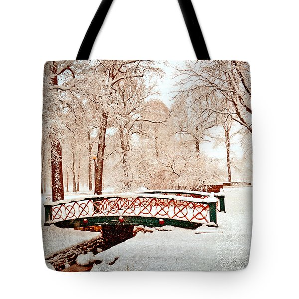 Winter's Bridge Tote Bag by Marty Koch