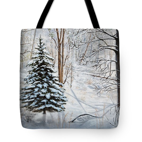 Winter's Peace Tote Bag by Vicky Path
