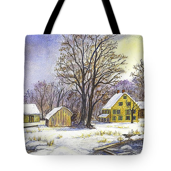 Wintertime in The Country Tote Bag by Carol Wisniewski