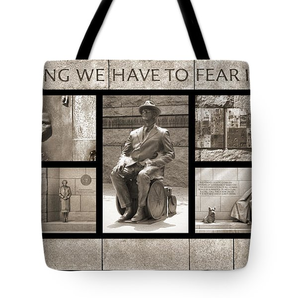 WIP - FDR Memorial - Washington DC Tote Bag by Mike McGlothlen