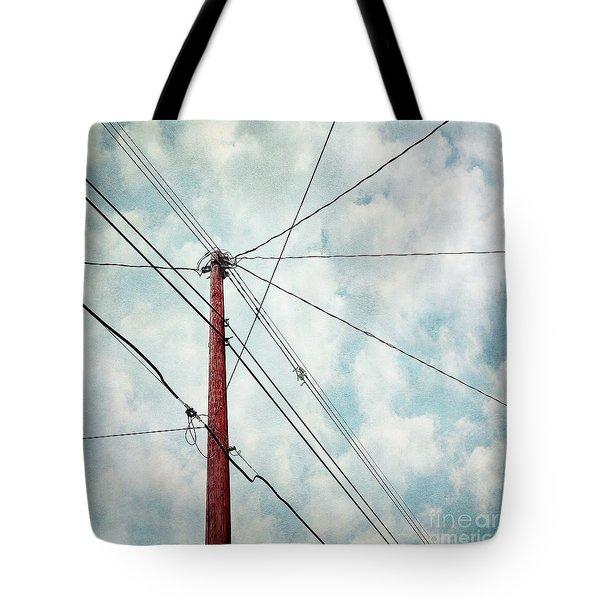 wired Tote Bag by Priska Wettstein