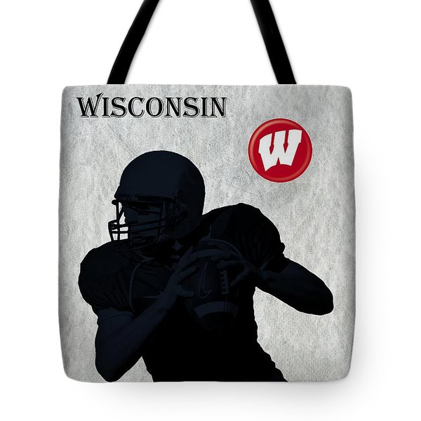 Wisconsin Football Tote Bag by David Dehner