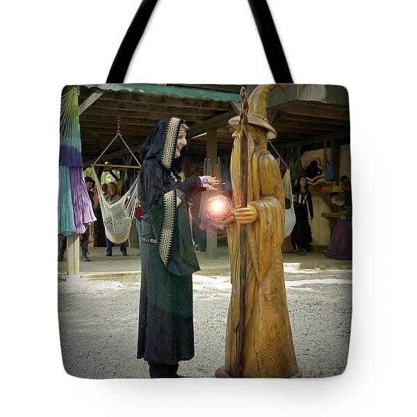 Witch Vs Wizard Tote Bag by Brian Wallace