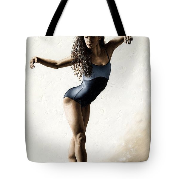 With Deftness Tote Bag by Richard Young