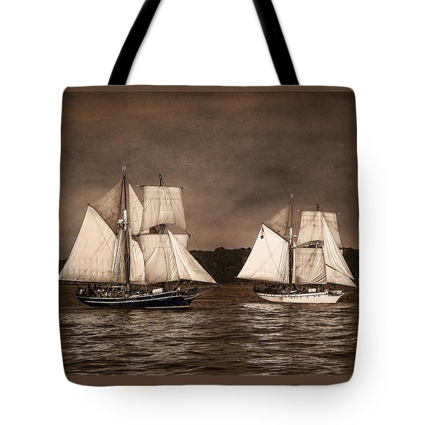 With Full Sails Tote Bag by Dale Kincaid