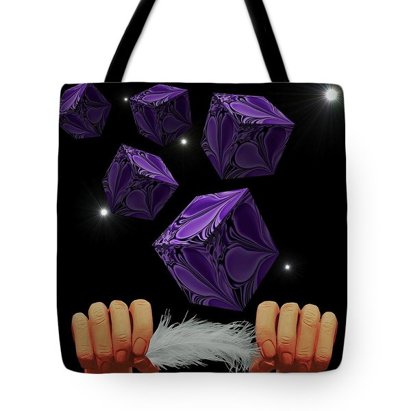 With The Lightest Touch Tote Bag by Barbara St Jean