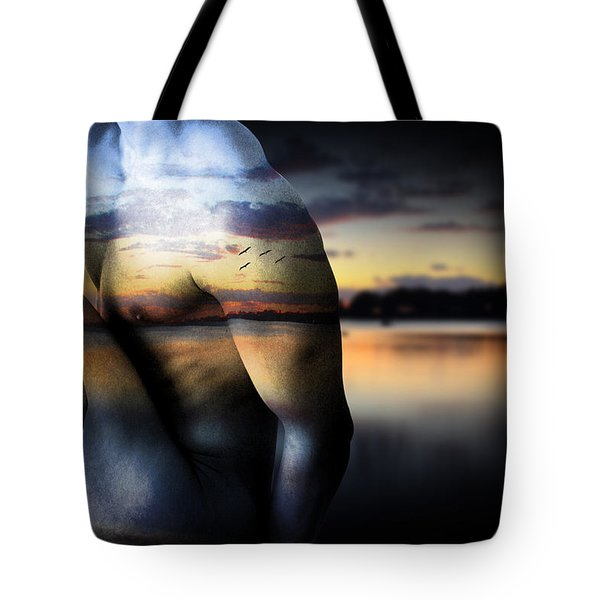 with the sea  Tote Bag by Mark Ashkenazi