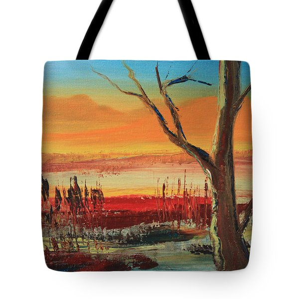 Withered Tree Tote Bag by Remegio Onia