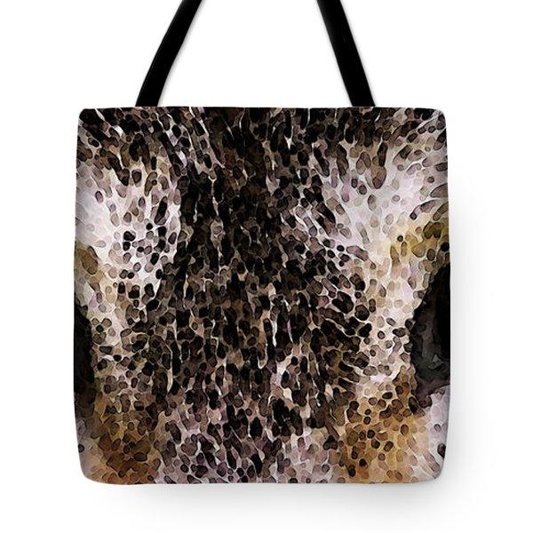 Wolf Eyes Tote Bag by Sharon Cummings