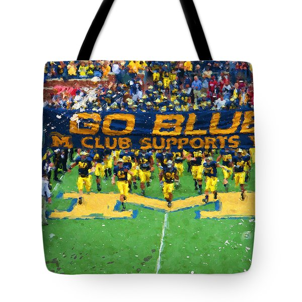 Wolverines Rebirth Tote Bag by John Farr