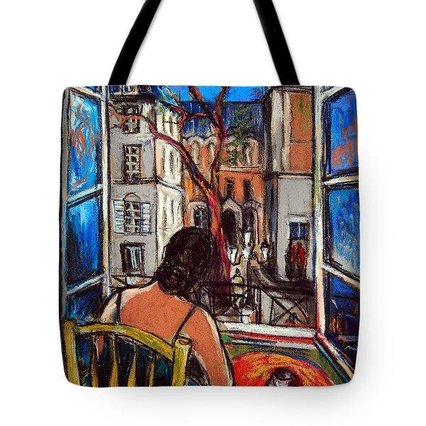 Woman At Window Tote Bag by Mona Edulesco