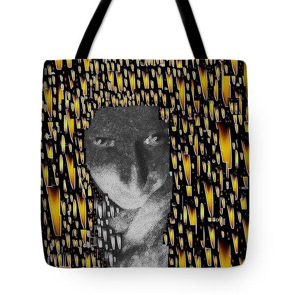 Woman In Flames Tote Bag by Pepita Selles