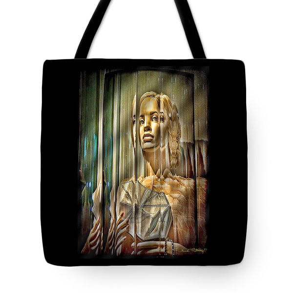 Woman In Glass Tote Bag by Chuck Staley