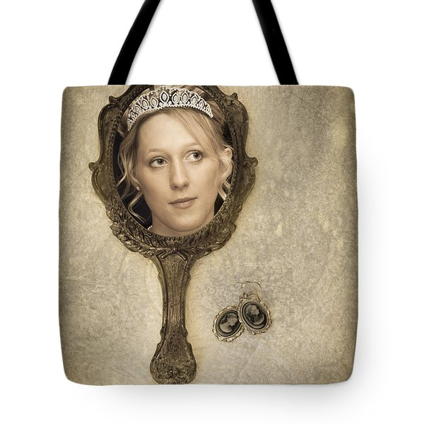 Woman In Mirror Tote Bag by Amanda And Christopher Elwell