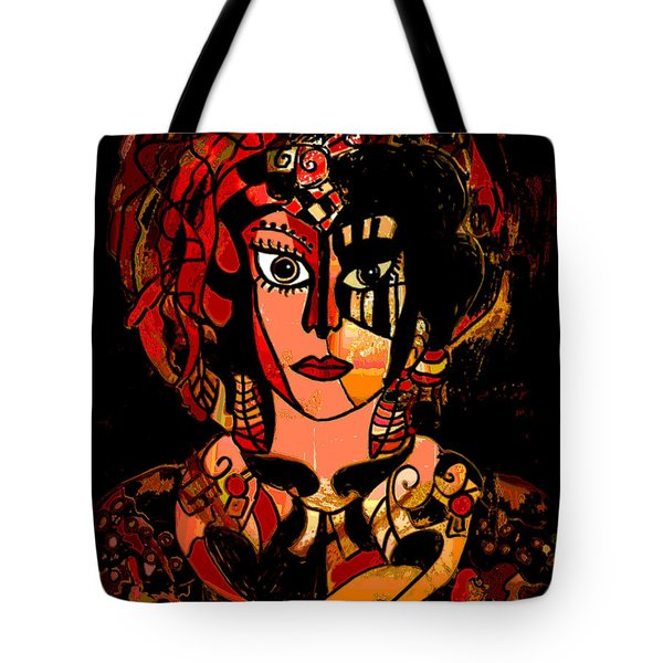 Woman Of Mystery Tote Bag by Natalie Holland