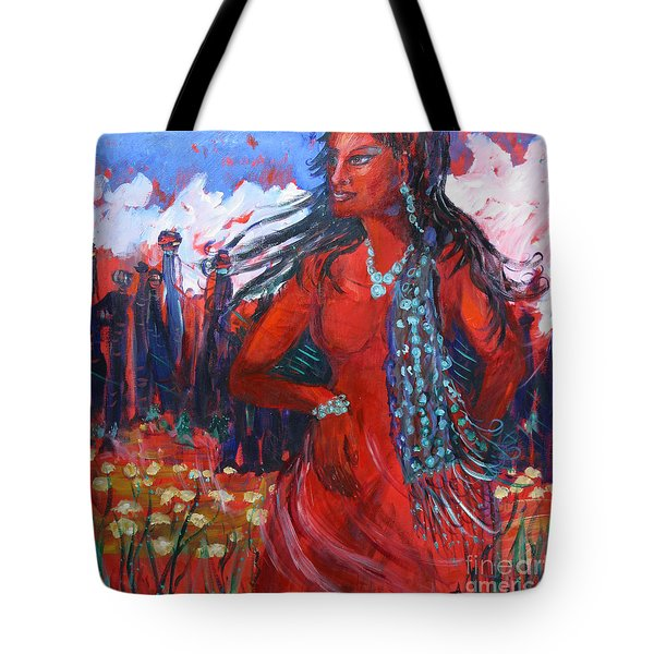 Woman Of The Whispering Wind Tote Bag by Avonelle Kelsey