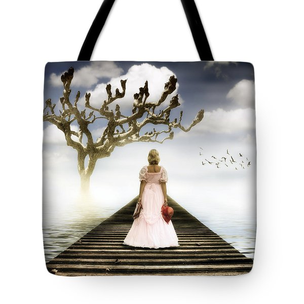 Woman On Pier Tote Bag by Joana Kruse