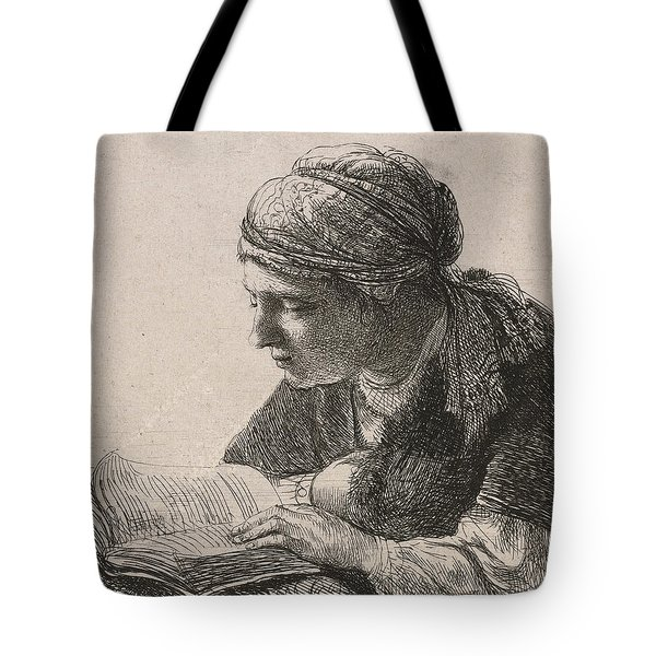 Woman Reading Tote Bag by Rembrandt